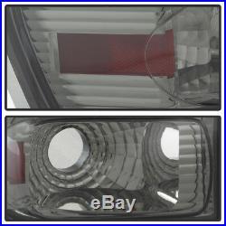 Smoke 2002-2009 Chevy Trail Blazer Trailblazer LED Tail Lights Brake Lamps Pair