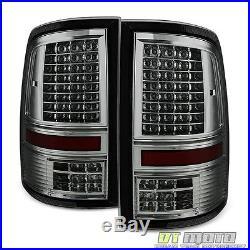 Smoke 2009-2017 Dodge Ram 1500 2500 3500 Pickup Full LED Tail Lights Brake Lamps