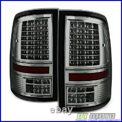 Smoke 2009-2018 Dodge Ram 1500 2500 3500 Pickup Full LED Tail Lights Brake Lamps