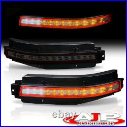 Smoke 4-in-1 Sequential LED Brake Fog Lights Lamps For 2003-2009 Nissan 350z Z33