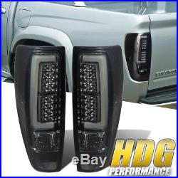 Smoke Chrome Housing Brake Tail Lights For GMC Canyon Chevy Colorado 2004-2012