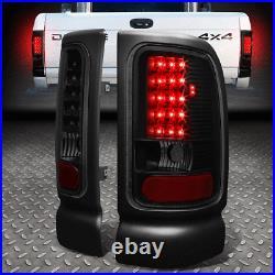 Smoke Housing Headlight+black Led Tail Light+3rd Brake Lamp For 94-02 Dodge Ram