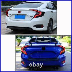 Smoke LED Tail Lights For Honda Civic 2016-2019 Rear Lamp Assembly Reverse 4dr