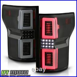 Smoke Tinted 2015-2017 Ford F150 F-150 Pickup LED Tube Sequential Tail Lights