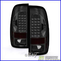 Smoked 1997-2003 Ford 150 99-07 F250 F350 Superduty LED Tail Lights Brake Lamps