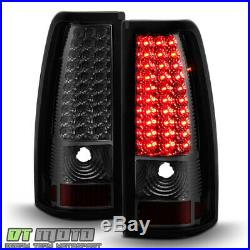 Smoked 2003-2006 Chevy Silverado 1500 2500 3500 LED Tail Lights Lamps Left+Right
