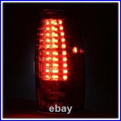 Smoked 2007-2013 Chevy Avalanche Lumileds LED Tail Lights Brake Lamps Left+Right