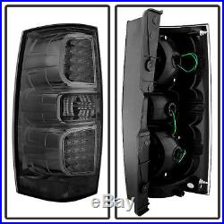 Smoked 2007-2014 Chevy Suburban 1500 2500 Tahoe GMC Yukon LED Tail Lights Lamps