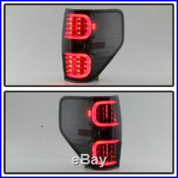 Smoked 2009-2014 Ford F150 F-150 LED Tube Tail Lights Lamps Left+Right 09-14