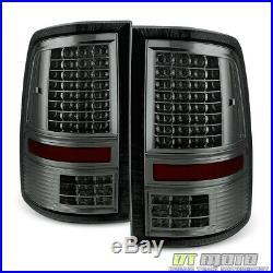 Smoked 2009-2018 Dodge Ram 1500 10-18 2500 3500 Full LED Tail Lights Brake Lamps