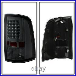 Smoked 2009-2018 Dodge Ram 1500 10-18 2500 3500 LED Tube Tail Lights Brake Lamps