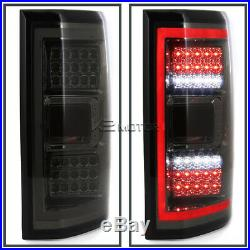 Smoked 2015-2017 Ford F150 Rear Brake Full LED Tail Lights withLED Daytime Tube