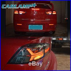 Smoked Black Audi Style LED Tail Lights For Mitsubushi Lancer / EVO X Rear Lamp