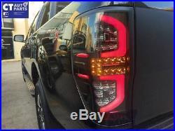 Smoked Black LED Tail Lights for 11-17 Ford Ranger MK1 MK2 WildTrak