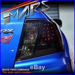 Smoked Black LED Tail Lights for Subaru Impreza Sedan GE GH 07-13 WRX STi RS RX