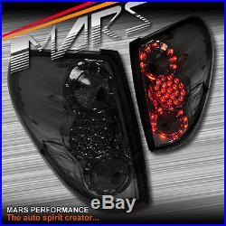 Smoked Black LED Tail lights for MITSUBISHI TRITON 06-14 UTE PICK UP TRUCK