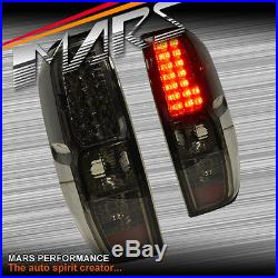 Smoked Black LED Tail lights for Nissan Navara & Frontier D40 05-14 ST-X RX UTE