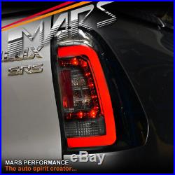 Smoked Black Tail lights with 3D LED Stripe Bar for Toyota Hilux REVO 2015-2018