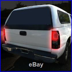 Smoked Headlight+bumper+black Tinted 3d Led Bar Tail Light For 03-07 Silverado