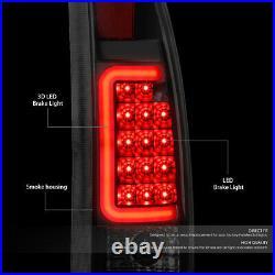Smoked Housing 3d Led Tail+black 3rd Brake Light For 92-00 Suburban/tahoe/yukon