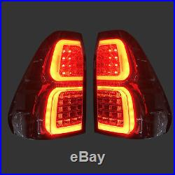Smoked LED Rear Tail Light Lamp for Toyota Hilux KUN26R SR SR5 Workmate 05-15
