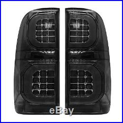 Smoked LED Tail Light Smoke Rear Lamp For Toyota Hilux KUN26R SR SR5 Workmate