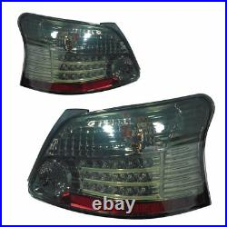 Smoked LED Tail Lights Rear Lamps For Toyota Yaris NCP93 2007-2011 Sedan Pair