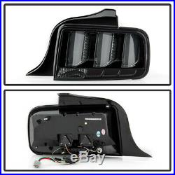 Smoked LED Tube Sequential Signal Tail Lights Lamps For 2005-2009 Ford Mustang