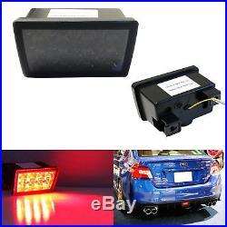 Smoked Lens F1 Style LED Rear Fog Light Brake/Tail Lamp For Subaru WRX STi XV