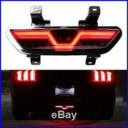 Smoked Lens Full LED Reverse Light/F1 Strobe Rear Fog Lamp For 15+ Ford Mustang