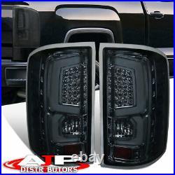 Smoked Lens LED Bar Tube Tail Lights Brake Lamps Pair For 2014-2018 GMC Sierra