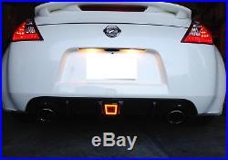 Smoked Lens LED Rear Fog Light, Brake and Backup Reverse For 2009-up Nissan 370Z