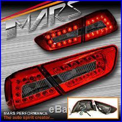 Smoked Red LED Tail Lights for MITSUBISHI LANCER CJ SEDAN 07-17 Include EVO X