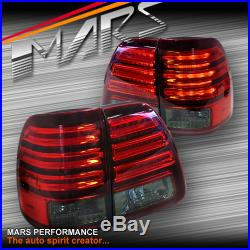 Smoked Red LED Tail Lights for TOYOTA LAND CRUISER FJ100 98-07 LANDCRUISER