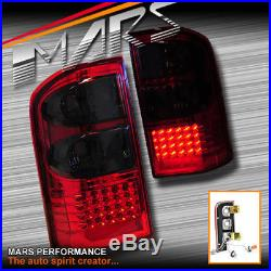 Smoked Red LED Tail lights for Nissan Patrol GU 97-04 4WD 4x4 Series 1 2 3