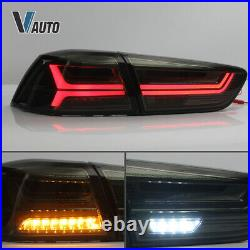 Smoked Taillight All Black Headlight with Demon Eyes For Lancer / EVO X 08-17