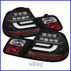 Spyder -Black Light Bar LED Tail Lights For 2000-03 BMW E46 Coupe -5073815