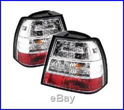 Spyder Clear LED Tail Lights For 1999-2004 Volkswagen Jetta (Wagon & Sedan)