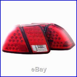 Stealth 2001-2005 Honda Civic Sedan LED Taillight Chrome/Red