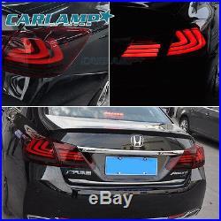 TAIL LIGHTS 4 DOOR SEDAN LED BRAKE FOR 2013 2014 2015 Honda Accord