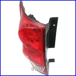 Tail Light for 2011-2015 Dodge Grand Caravan Driver Side Red & Clear Lens