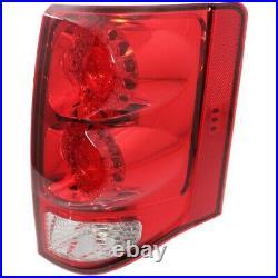 Tail Light for 2011-2015 Dodge Grand Caravan Passenger Side Red & Clear Lens