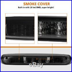 Tail Lights + Brake Light Set for 2007-2013 Chevy Silverado 1500 2500 HD Smoke