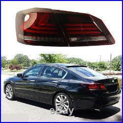 Tail lights 4Door Sedan LED Brake 1 Pair Fits For 2013 2014 2015 Honda Accord