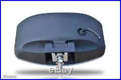 To Fit Scania Volvo DAF MAN 24v 9.5 Jumbo Oval Black ABS Spot Lamp + LED x4