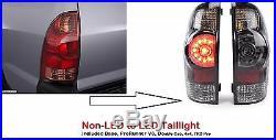Toyota Tacoma 2004-2015 Led Tail Lights Taillights Rear Lamps Trd Black Pair Set