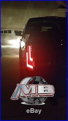 Toyota Tundra Truck Black Smoked LED Tail Lights 2014-2017 WINJET WJ20-0377-05