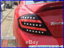Two Plus Auto Surface Emitting LED Custom Taillights for Hyundai Tuscani RED