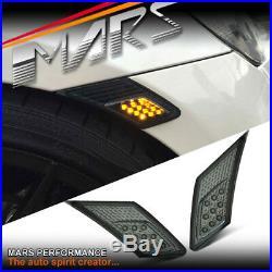 VALENTI Smoked LED Side Indicator Turn Signel Lights for Toyota 86 & Subaru BRZ