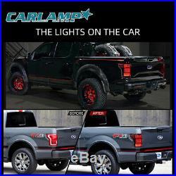 VLAND Fits Ford F150 F-150 2018-2019 Black LED Headlight + LED Tail Lights